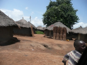 Huts of an Internal Displacement Camp near Gulu.
